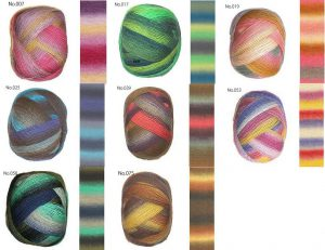 Lang Yarn Jawoll Magic Degrade 8色から選んでいただけます。