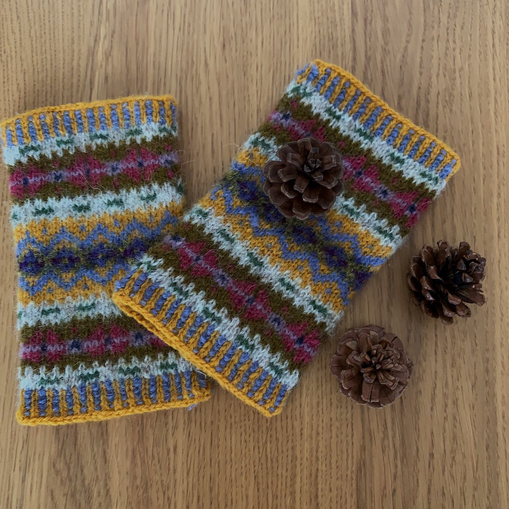 Fair Isle Fingerless Mittens
