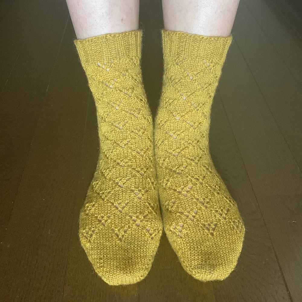 Gingko Socks〜着画〜