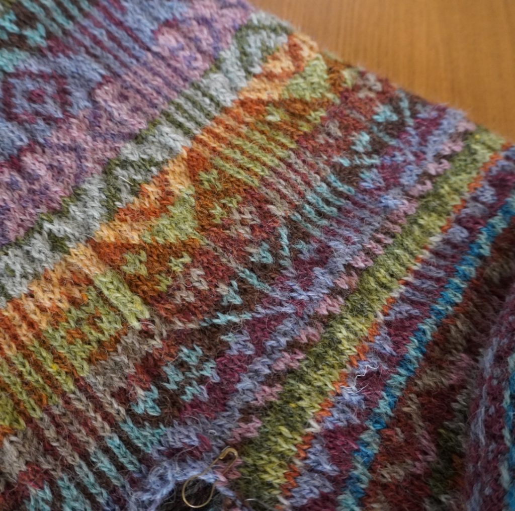 Tapestry Wrap Cardigan by Marie Wallin